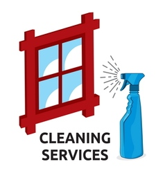 cleaning services1 vector image vector image