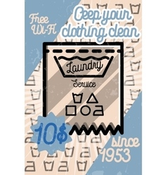 Color vintage laundry poster vector image