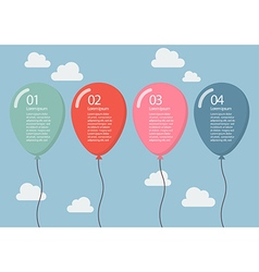 Colorful balloon infographic vector