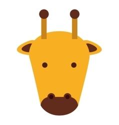 Cute giraffe isolated icon design vector