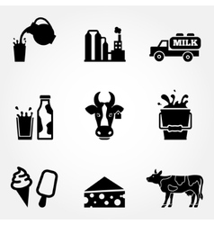 Dairy products - milk vector image