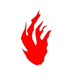 Fire flames silhouette vector image