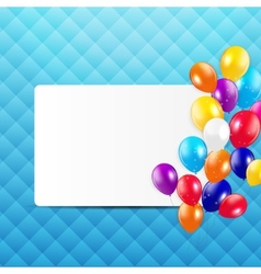 Glossy Balloons Background vector image