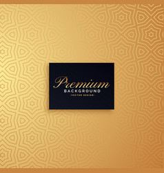 golden premium pattern background design vector image vector image