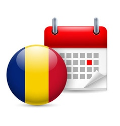 Icon of national day in romania vector image vector image