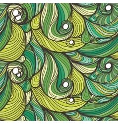 Ink doodle waves vector image