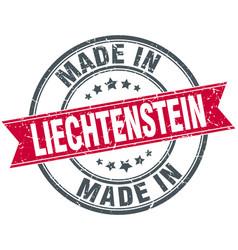 made in liechtenstein red round vintage stamp vector image