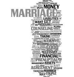 Money and marriage text background word cloud vector