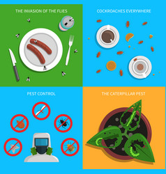 pest concept set vector image vector image