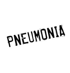 Pneumonia rubber stamp vector