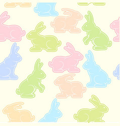 rabbits background pastel vector image