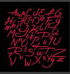 Retro font - fashion 80-90s english alphabet vector