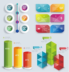 Set Infographic Design vector image vector image