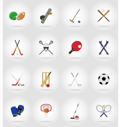 sport flat icons 17 vector image