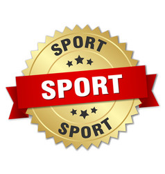 Sport round isolated gold badge vector