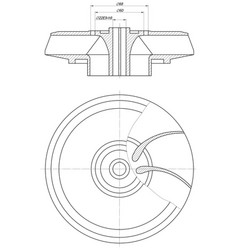 Wheel sketch with span and section vector