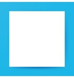 White square empty mockup vector