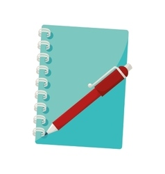 notebook pen notes stationary icon vector image