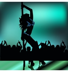 Pole dancing girl vector