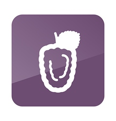 Blackberry bramble outline icon berry fruit vector