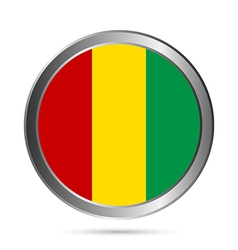 Guinea flag button vector