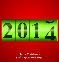 Green New Year counter vector image