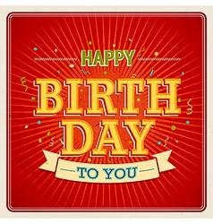Happy birthday to you 2 2 vector