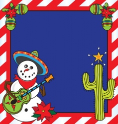 Mexican christmas card vector