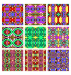 Different seamless colored vintage geometric vector