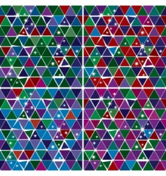 Bright gem triangle pattern set vector