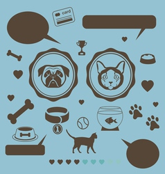 Cat vs dog infographic vector