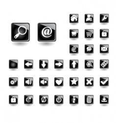 Buttons for websites vector