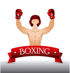 Boxing design vector