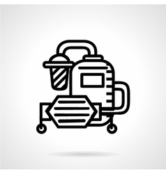 Water system flat line icon vector