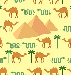 Egypt seamless pattern characters of egypt vector