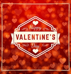 Happy valentines day retro badge valentines day vector