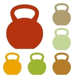 Fitness dumbbell sign vector