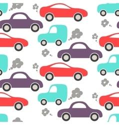 Car cute baby seamless pattern vector