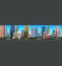 a city landscape with buildings vector image vector image