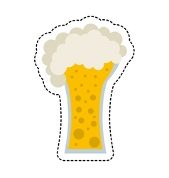 beer glass beverage isolated icon vector image