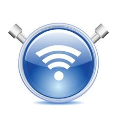 blue wifi icon vector image vector image