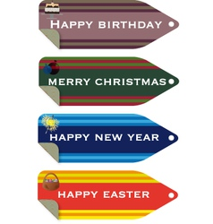celebration tags vector image