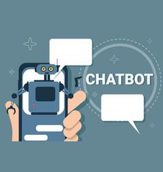 Chatbot concept support robot technology digital vector