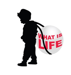 child holding ball vector image