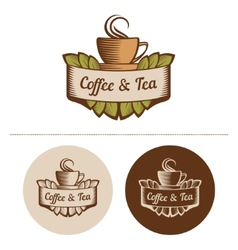 Coffee And Tea Logo Template vector image vector image