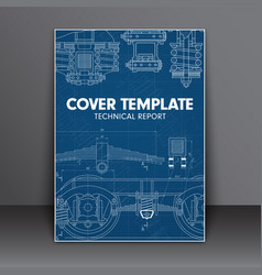Cover design blue with in technical style for a vector
