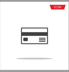 credit card icon on white background vector image