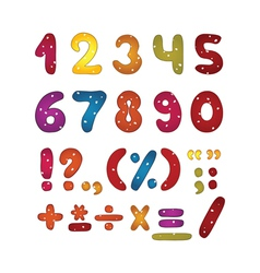 Funny number set vector image vector image