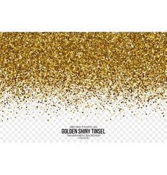 Golden Shiny Tinsel Square Particles vector image