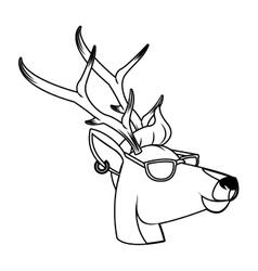 Hipster animals design vector